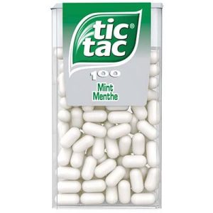 ETUI X100 TIC TAC MENTHE