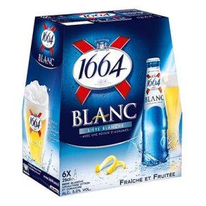 BLLE 6X25 BIER.1664 BLANC