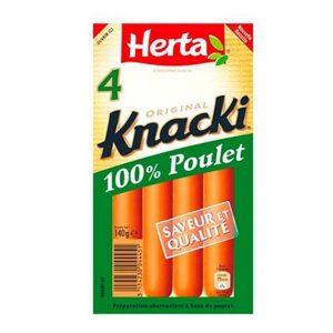 KNACKI POULET X4 140HERTA
