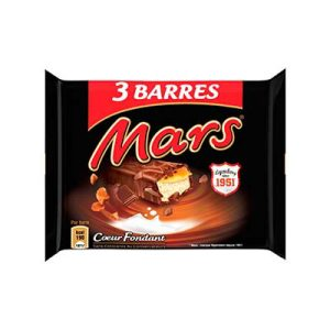 PACK 135G.BARRE MARS LAIT